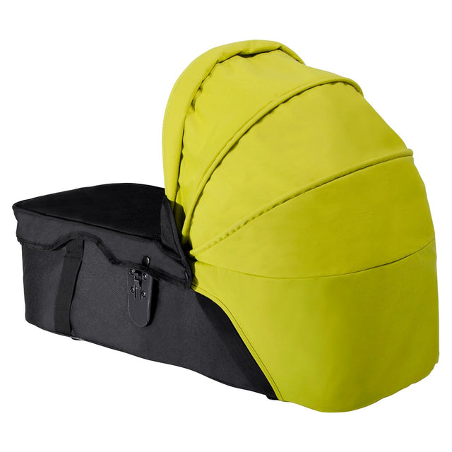 mountain buggy sunhood for pre-2014 swift mini and duet carrycot 3/4 view shown in color lime_lime