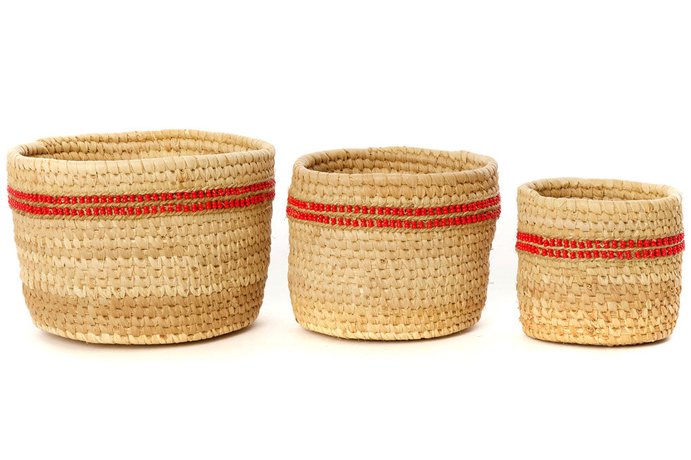 Ngurunit Nomadic Beaded Dots Basket