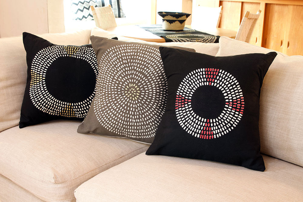 Zambian Hand Painted Pillow Covers
