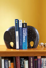 Load image into Gallery viewer, Polka Dot Soapstone Elephant Bookends