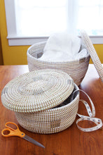 Load image into Gallery viewer, Set of Two Nesting Lidded Baskets