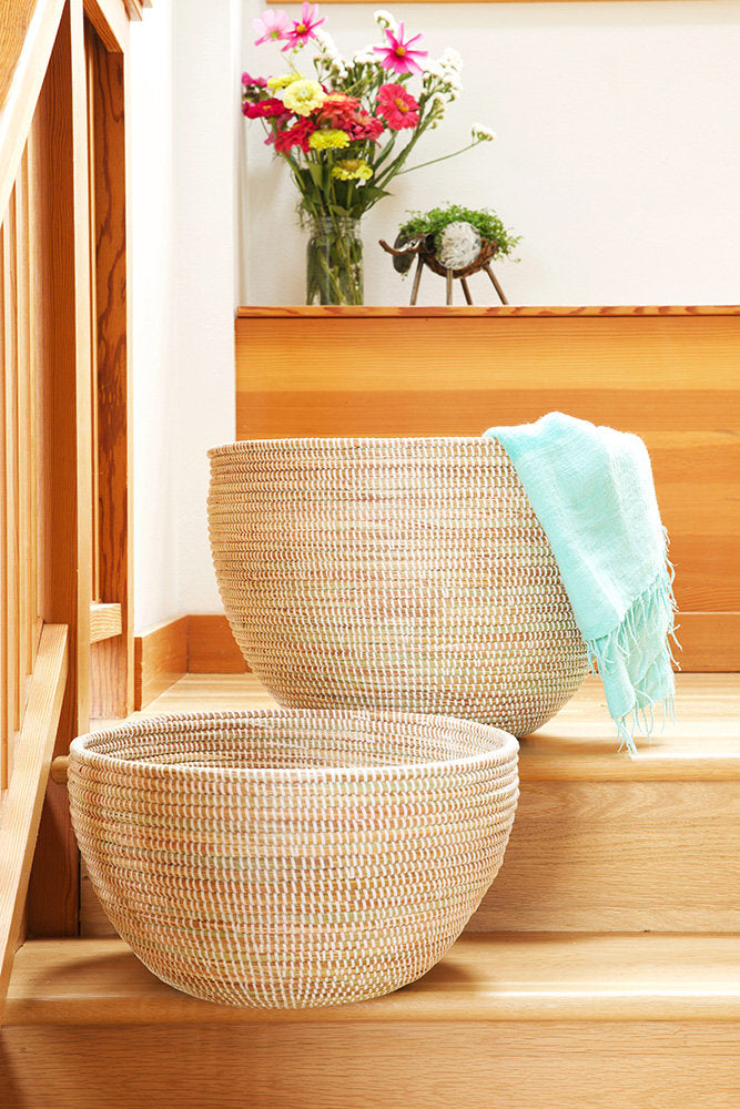 Set of Two Deep Organizing Baskets