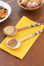 Load image into Gallery viewer, Olive Wood Petite Traditional Salad Servers