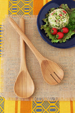 Load image into Gallery viewer, Olive Wood Simple Salad Servers