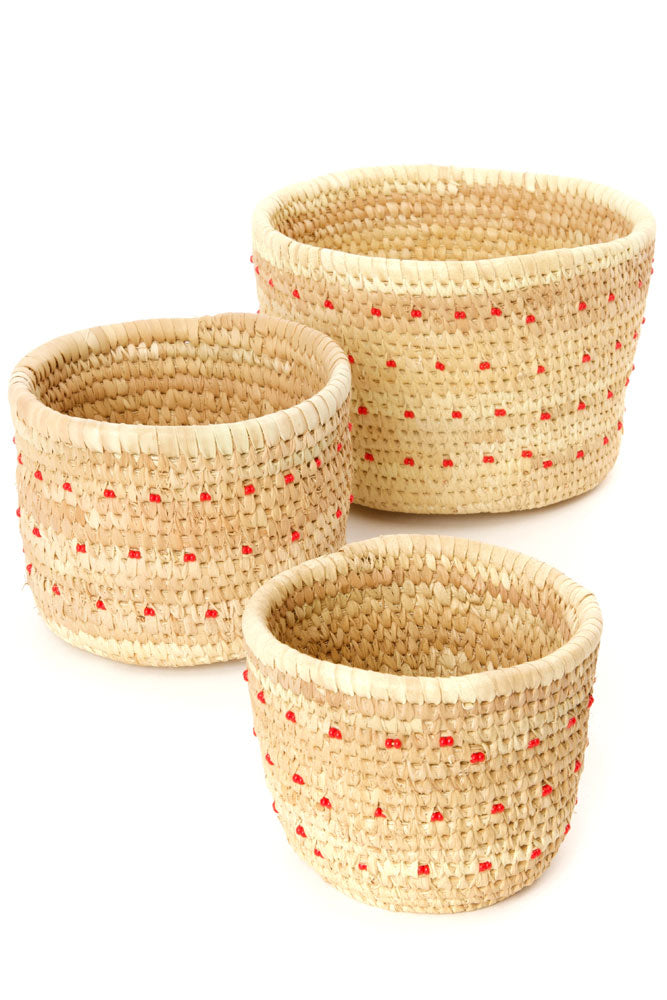 Ngurunit Beaded Dots Basket