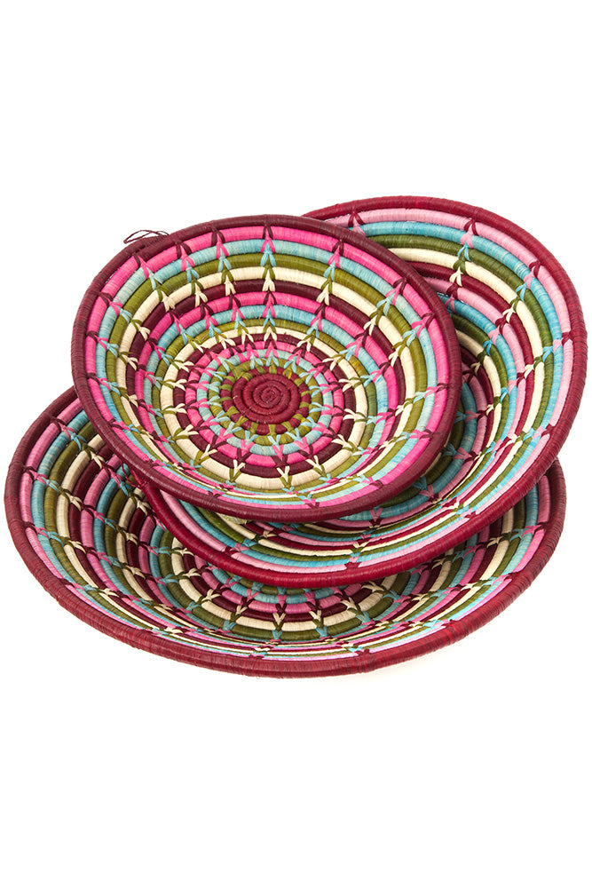 Raffia Coil Decor Baskets