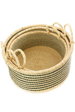 Load image into Gallery viewer, Set of Three Stripe Floor Baskets