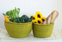 Load image into Gallery viewer, Set of Two Bolga Nesting Bowl Baskets