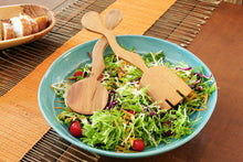 Load image into Gallery viewer, Wood Dune Salad Servers