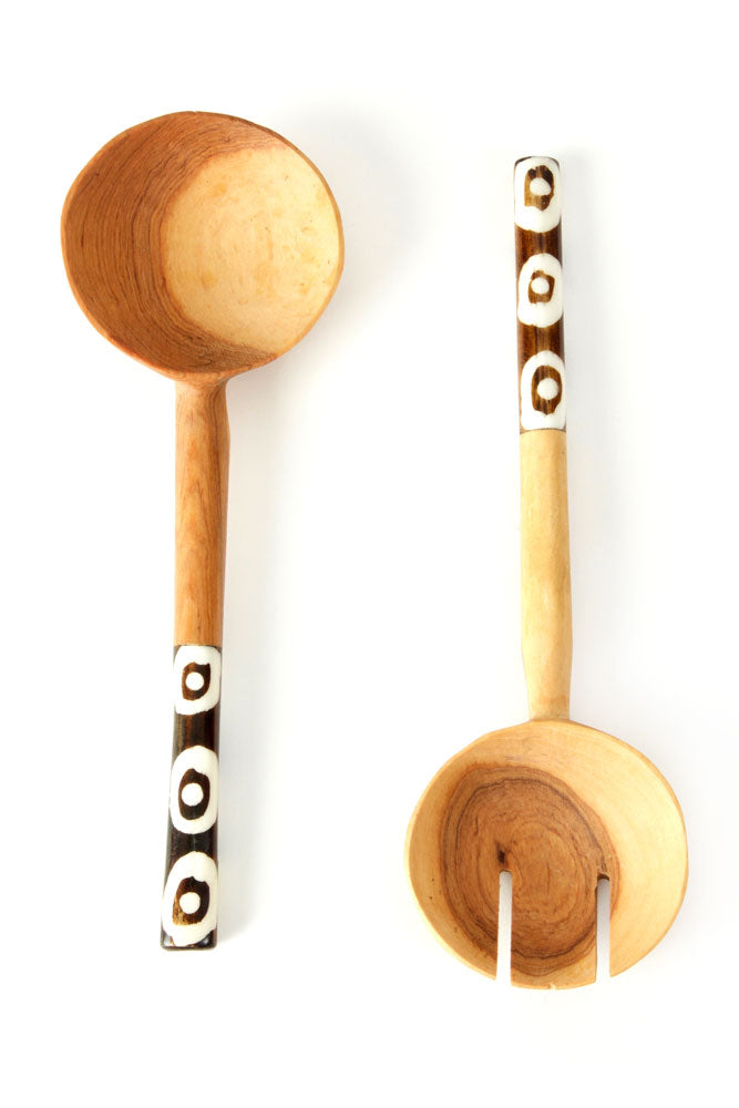 Olive Wood Petite Traditional Salad Servers