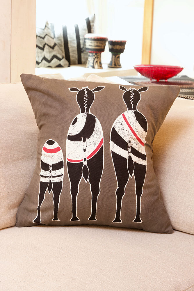 Safari Bold Hand Painted Pillow Cover