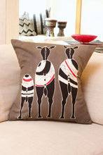 Load image into Gallery viewer, Safari Bold Hand Painted Pillow Cover