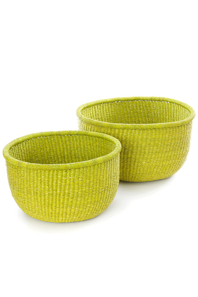 Set of Two Bolga Nesting Bowl Baskets