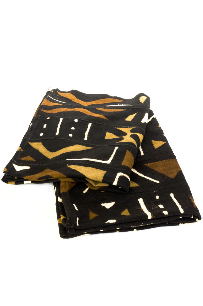 Bogolan Throw Blanket