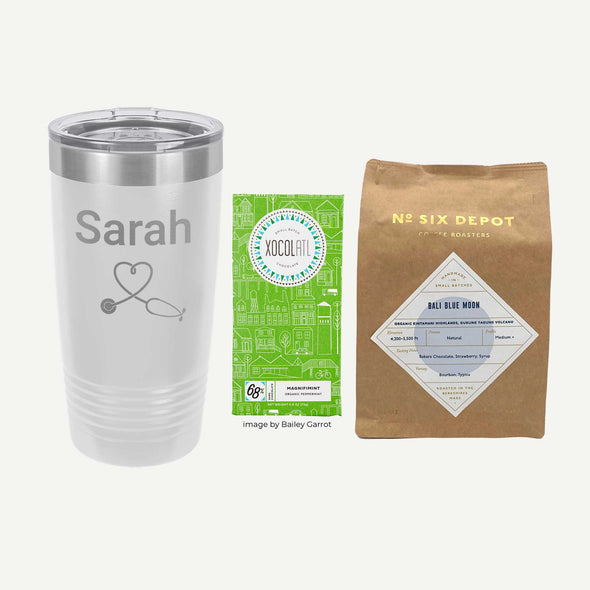 Personalized Healthcare Professional Gift Set - Tumbler, Chocolate, Coffee