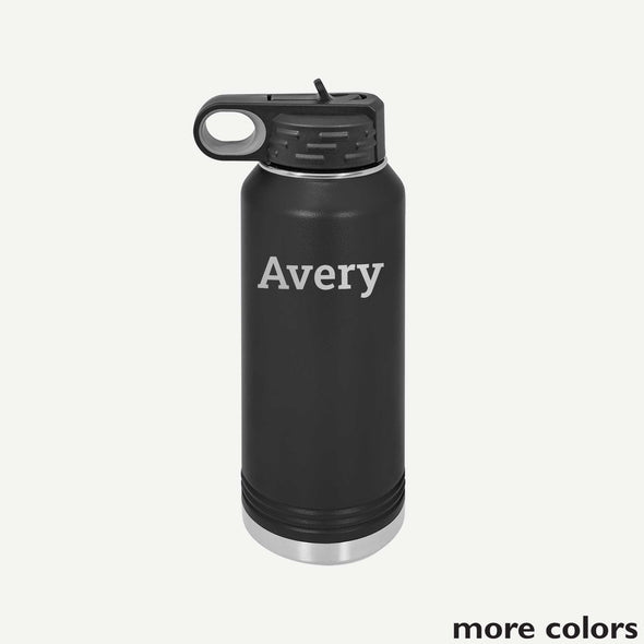 Personalized Water Bottle 32 oz - Block Name