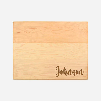 Personalized Maple Cutting Board - Name in Script