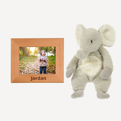 Personalized Picture Frame & Emerson the Elephant Floppy