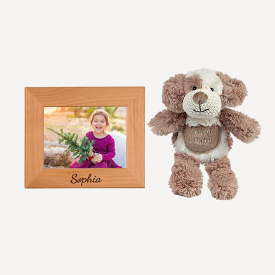 Personalized Picture Frame & Max the Puppy Tooth Fairy