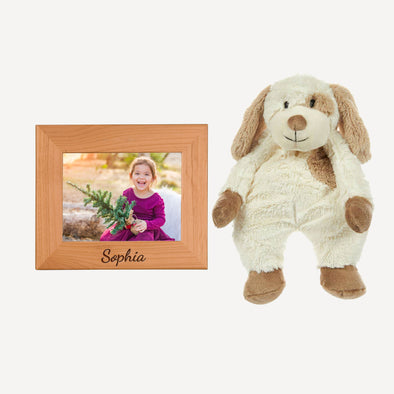 Personalized Picture Frame & Max the Floppy Puppy