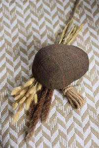 VAQUERA  CAP - wool - brown patterned