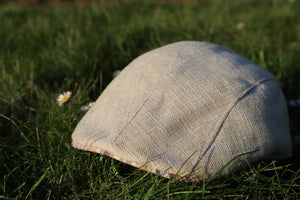 VAQUERA CAP - linen - beige with pattern, Size 59