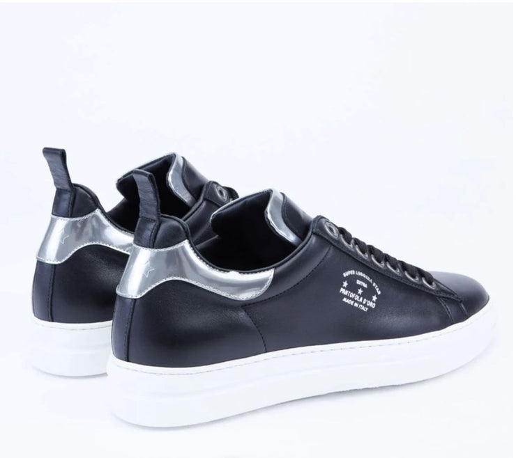COURT CLASSIC WOMEN'S LEATHER SNEAKERS BLACK