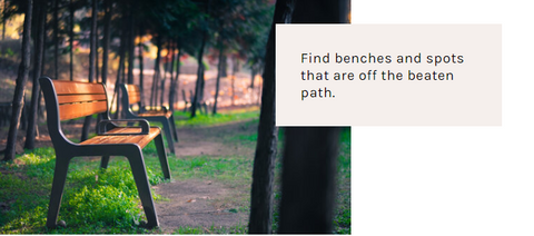 Find a Bench off the beaten path to breastfeed