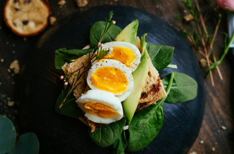 Eggs with Spinach.  micro nutrient dense foods