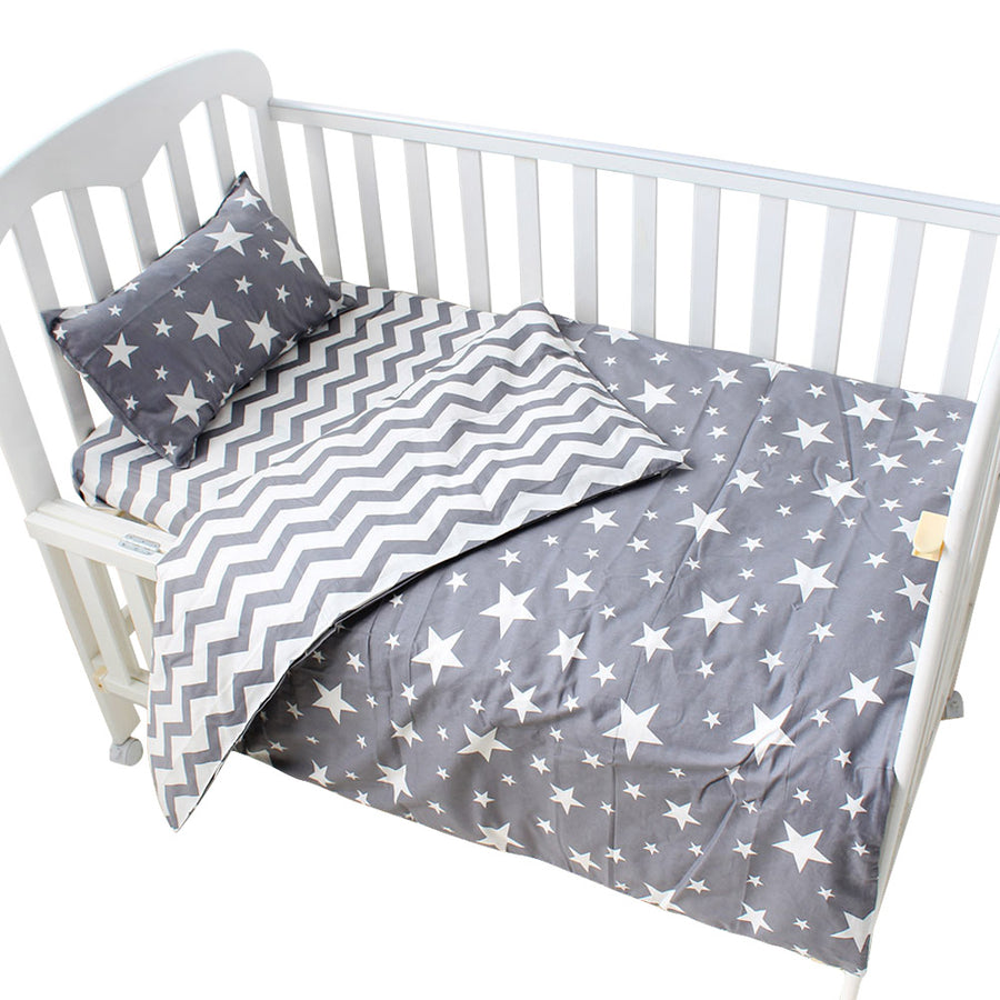 100% cotton baby boys girls bedding cover 3 pieces set