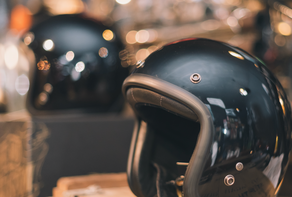What is an open face motorbike helmet?