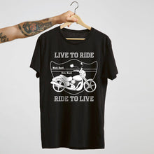 Load image into Gallery viewer, Live to Ride Heavy Cotton T-Shirt