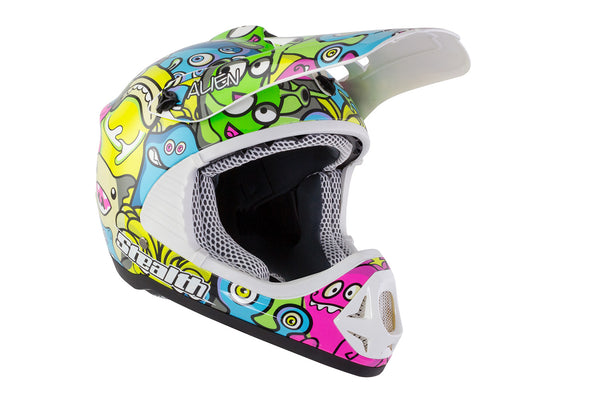 Stealth HD204 Aliens Kids MX Helmet