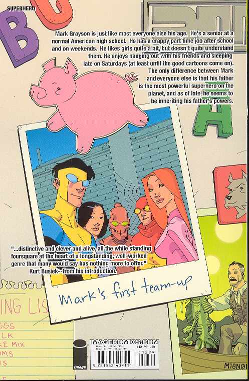 Invincible Vol 01 Family Matters Tp