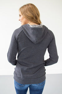 Sleek Grey on Grey Hoodie