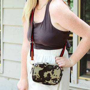 Camo 3 Sisters Faux Leather Crossbody