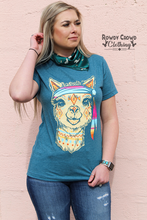 Load image into Gallery viewer, Trippy Hippy Llama Tee