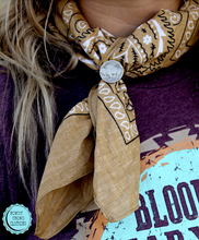 Load image into Gallery viewer, Navajo Coin Ring / Scarf Slider
