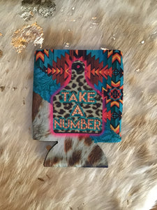 Take a number koozie