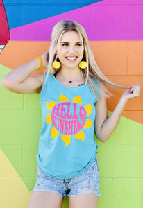 Hello Sunshine Comfort Colors Tank