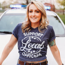 Load image into Gallery viewer, SUPPORT LOCAL OFFICERS Graphic Tee
