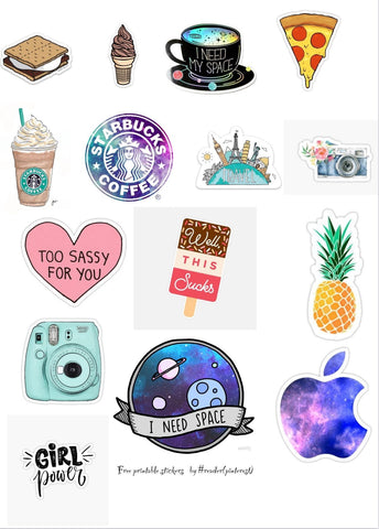Aesthetic Vinyl Stickers for Kids, Scrapbooking, Waterbottles, Electronic Gadgets etc. #1