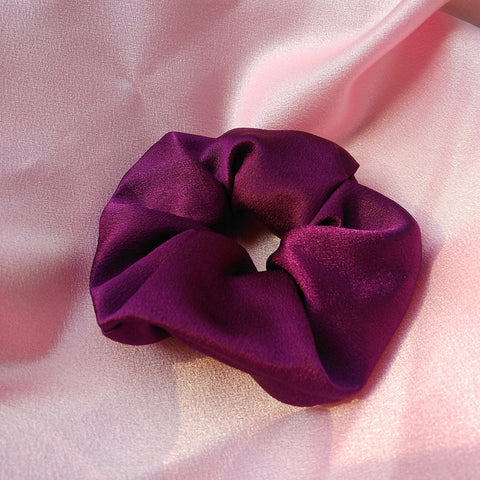 Purple Satin Scrunch
