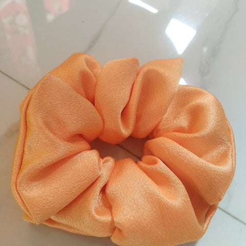 Orange Satin Scrunch Medium
