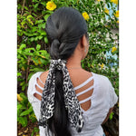 Scarf Scrunchie| Animal Print | Scarf | Midi