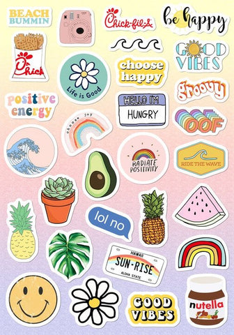 Aesthetic Vinyl Stickers for Kids, Scrapbooking, Waterbottles, Electronic Gadgets etc. #2