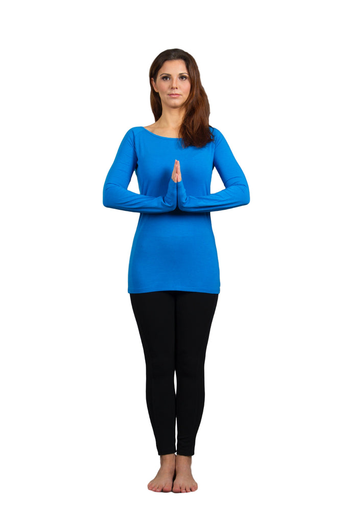 Women's Eucalyptus Long Sleeve Yoga Top