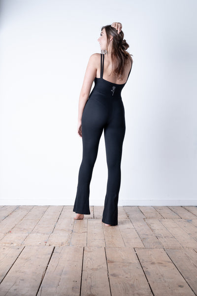 Flared Bootcut Jumpsuit Rear
