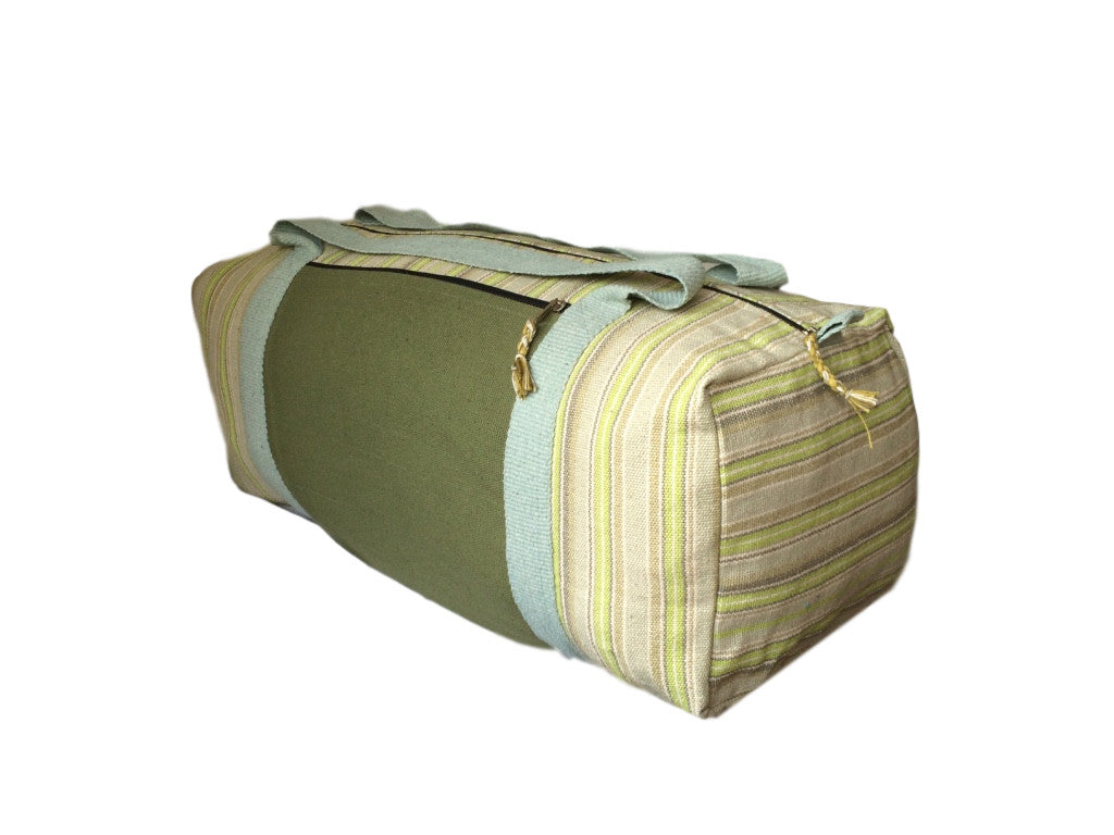 Handmade Nepali Nepalese Light Green Olive Yoga Holdall Bag