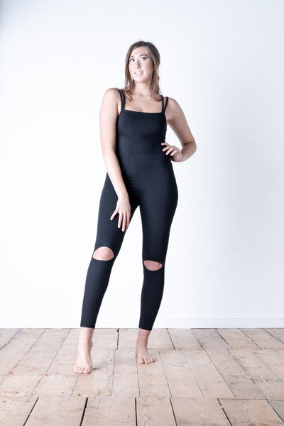 Split Knee Jumpsuit Front